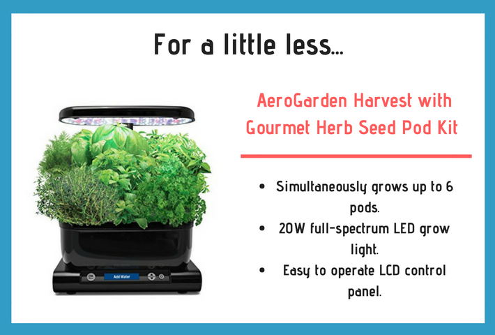 AeroGarden Harvest Review and specifications