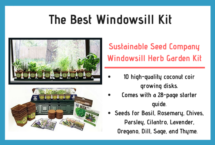 Sustainable Seed Company Windowsill Herb Garden Kit Review and Specifications