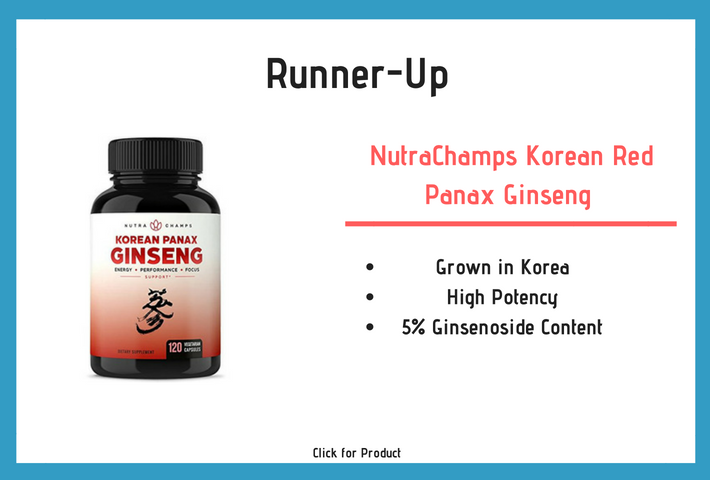 NutraChamps Korean Red Panax Ginseng 1000mg review