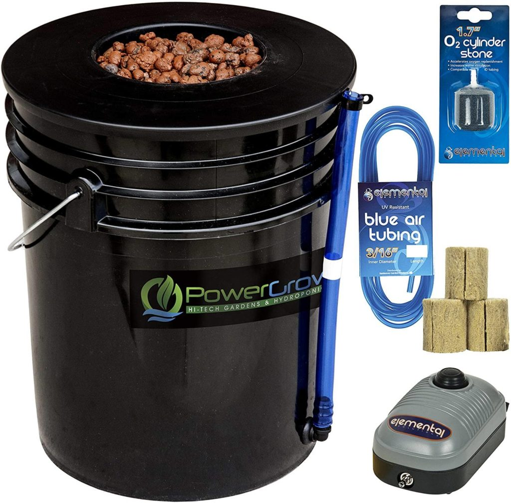 Deep Water Culture (DWC) Hydroponic Bucket Kit product review