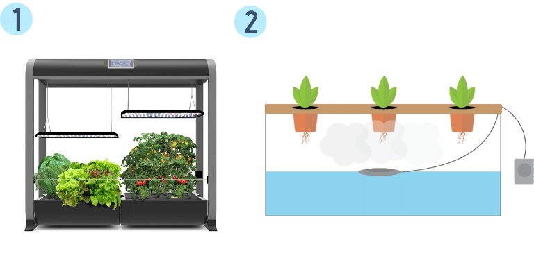 aeroponic growing units
