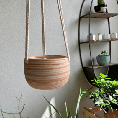 Mkono ceramic hanging pot