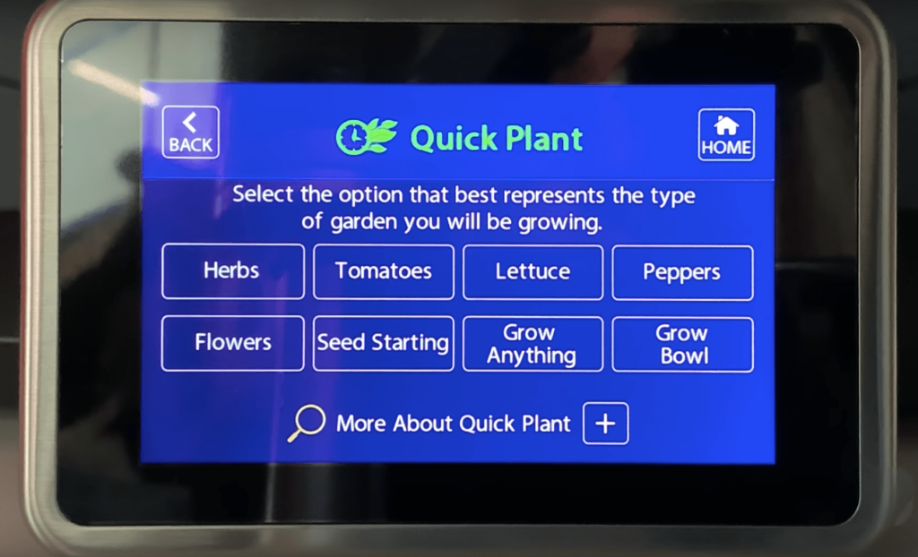 aerogarden quick plant grow panel