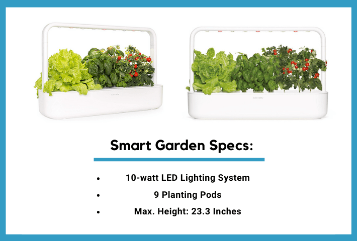 click and grow smart garden 9 specs