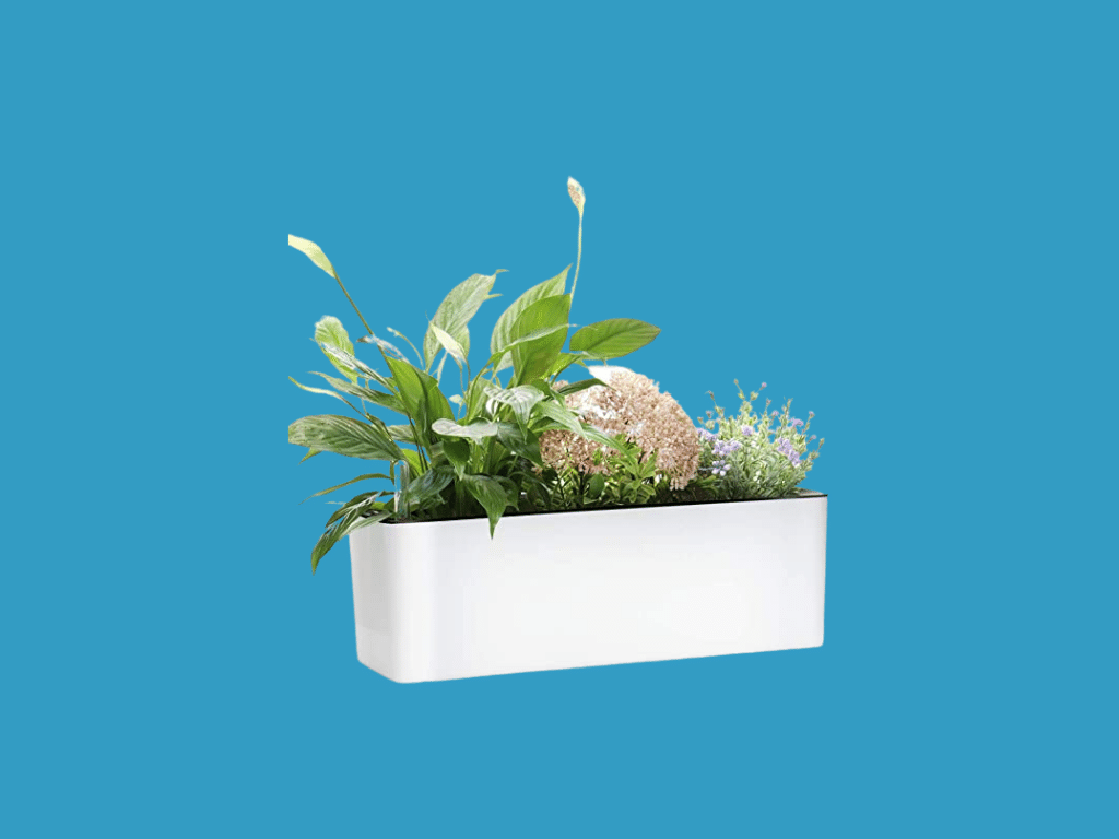 Elongated Self Watering Planter Pots Window Box with Coconut Coir