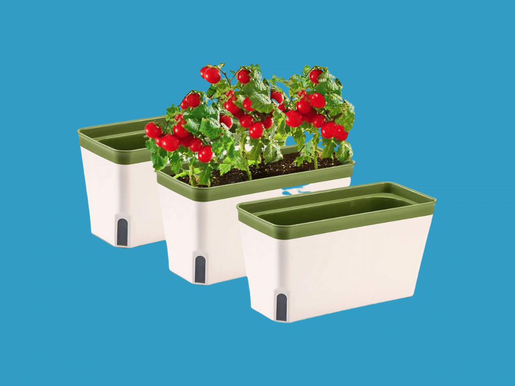 MOHENA 10.5 Inch Self Watering Planter Pot Rectangle