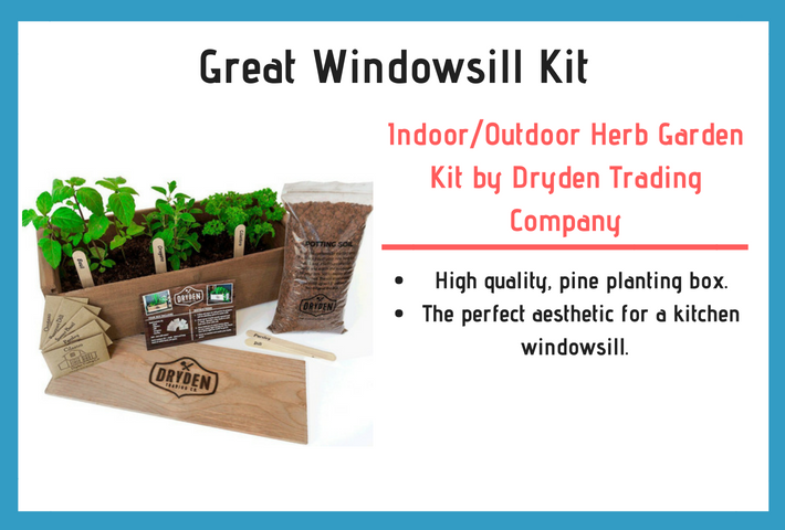 Indoor/Outdoor Herb Garden Kit - Classic Wood Planter Box with Herb Seeds Review and Specifications