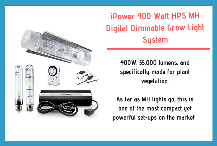 ipower 400 Watt HPS MH grow light diagram and review